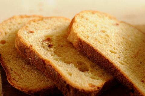 HBで作った干し柿パンの写真