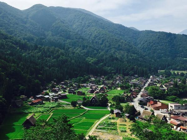 白川郷天守閣展望台からの眺め