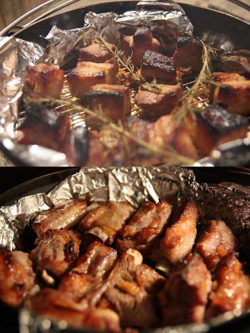 豚バラ、スペアリブの味噌漬け焼き