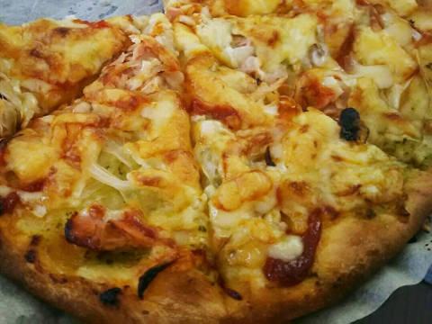 フライパンで簡単ピザ
